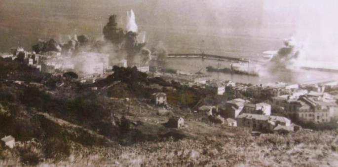Bastia-Cyrnos-Palace-bombarde-de-truit-septembre- 1943 lacorsedantan.com