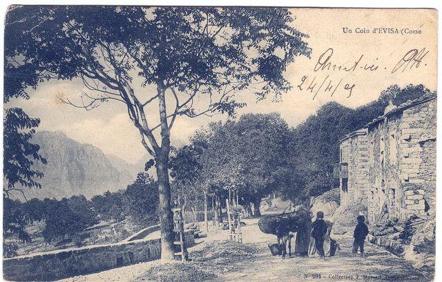 L'entree du village d'Evisa