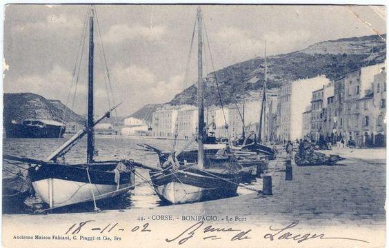 le port de Bonifacio en 1902