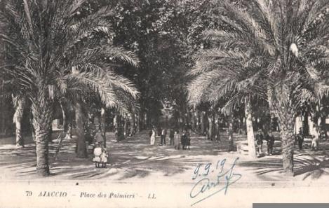 Ajaccio place des Palmiers en 1919