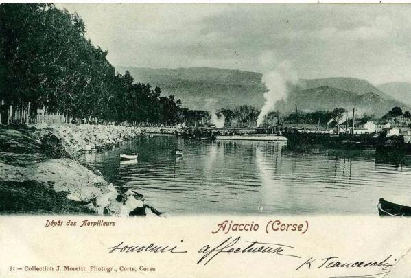 AJACCIO Dépot des Torpilleurs ( 1904