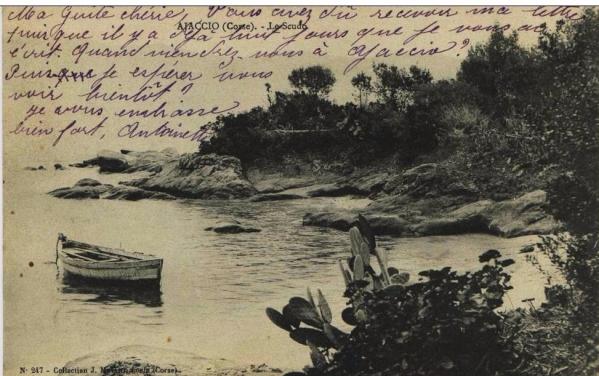 AJACCIO : LE SCUDO en 1904 cpa corse Ajaccio