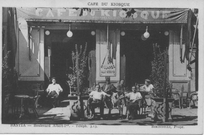 BASTIA - Boulevard Albert 1er Café du Kiosque 1912